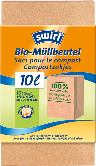 Swirl Organic Waste Paper Bags 100 Compostable