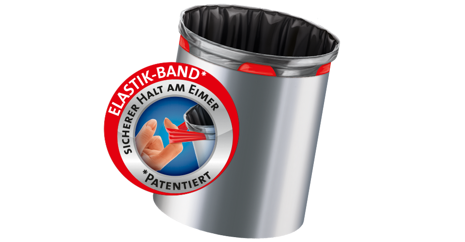 Elasticated bin liners
