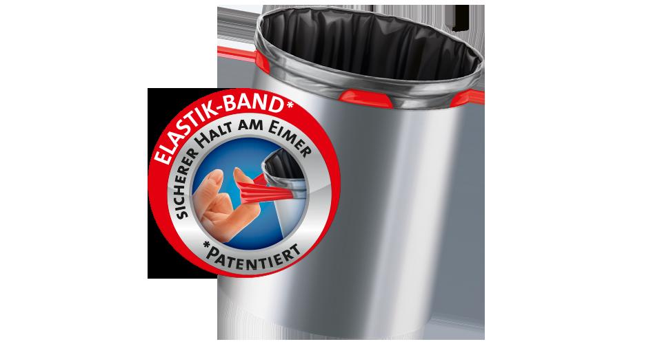 Elasticated bin liners