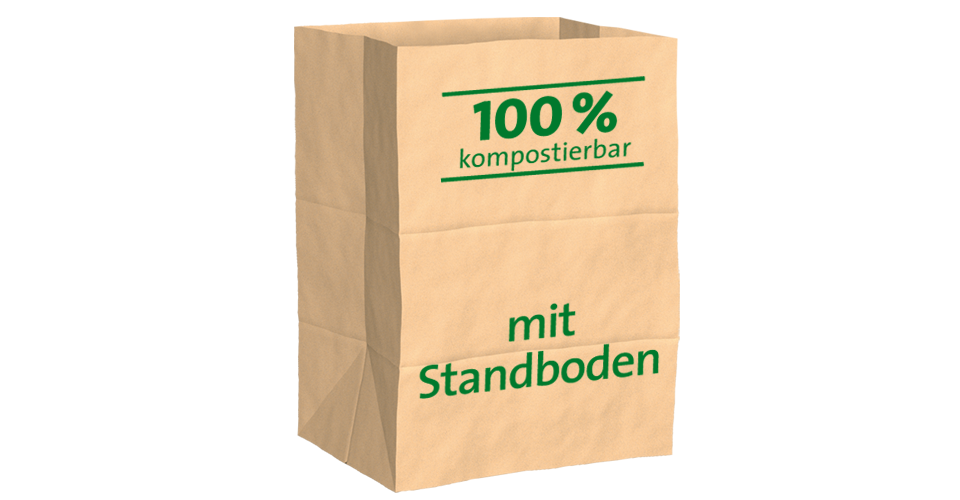 Paper bin sacks for organic waste 100% compostable