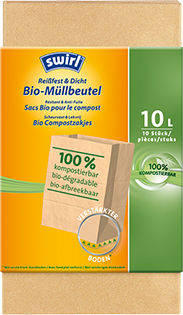 Organic waste-paper bags 100% compostable