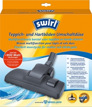 Swirl® carpet and hard flooring switchable nozzles