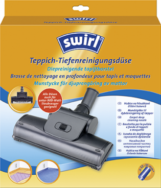 Swirl® carpet deep cleaning nozzle