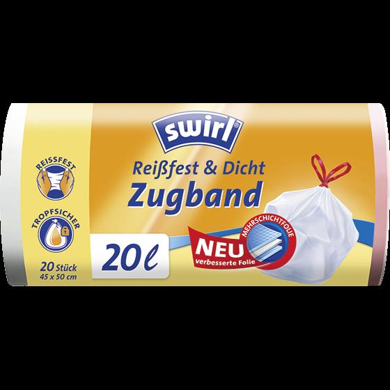 Reißfest & Dicht Zugband Müllbeutel, 20l