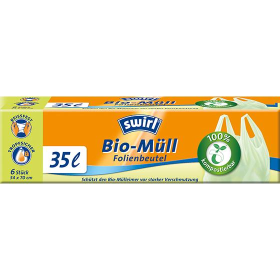 Bio-Müll-Folienbeutel mit Tragegriff, 35l   Swirl® Online Shop