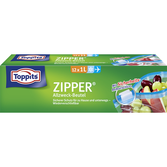 Toppits® Zipper 1l
