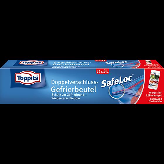 Toppits® Safeloc Gefrierbeutel 3l/12 Beutel