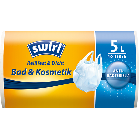 Bad und Kosmetik Tragegriff Müllbeutel, 5l