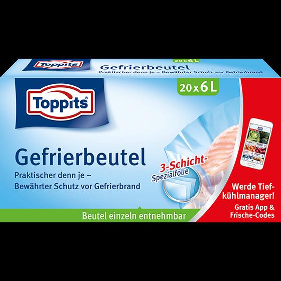 Toppits® Gefrierbeutel Standboden 6L