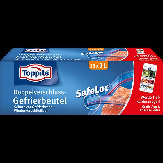 Toppits® Safeloc Gefrierbeutel 1l/15 Beutel