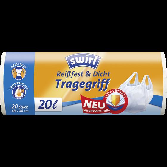 Reißfest & Dicht Tragegriff Müllbeutel, 20l
